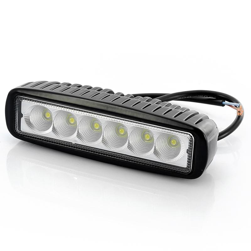 Epistar Led 6 Inch Work Light Waterproof 6x3w Bulbs