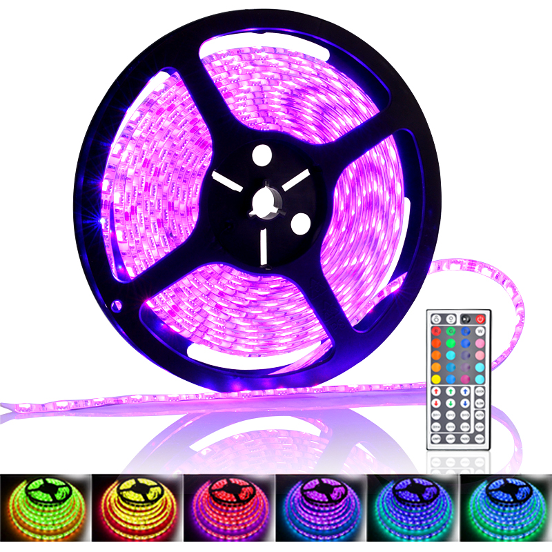 5 meter 300x rgb color changing led strip 72w ip65. Black Bedroom Furniture Sets. Home Design Ideas