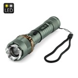 LED Rechargeable Flashlight Torch with Hammer