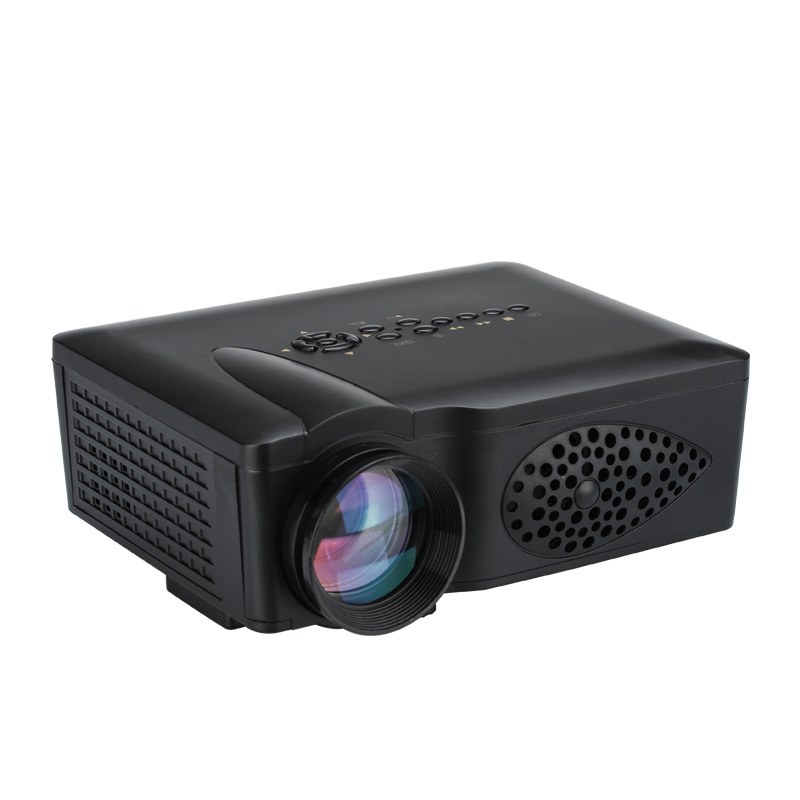 Compact mini led 750 lumen projector 800 1 contrast ratio for Lumen pocket projector
